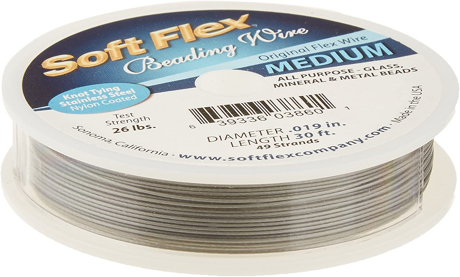 Soft Flex .019 in 30 ft Best Beading Wire 49 Strands