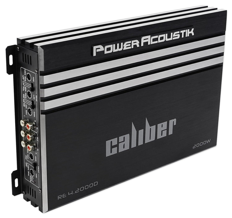 Power Acoustik Re4 2000d 2000 Watt 4 Channel Car Stereo Diagram 6 Speakers Channels On Amp Wiring Amplifier Wire Kit Electronics