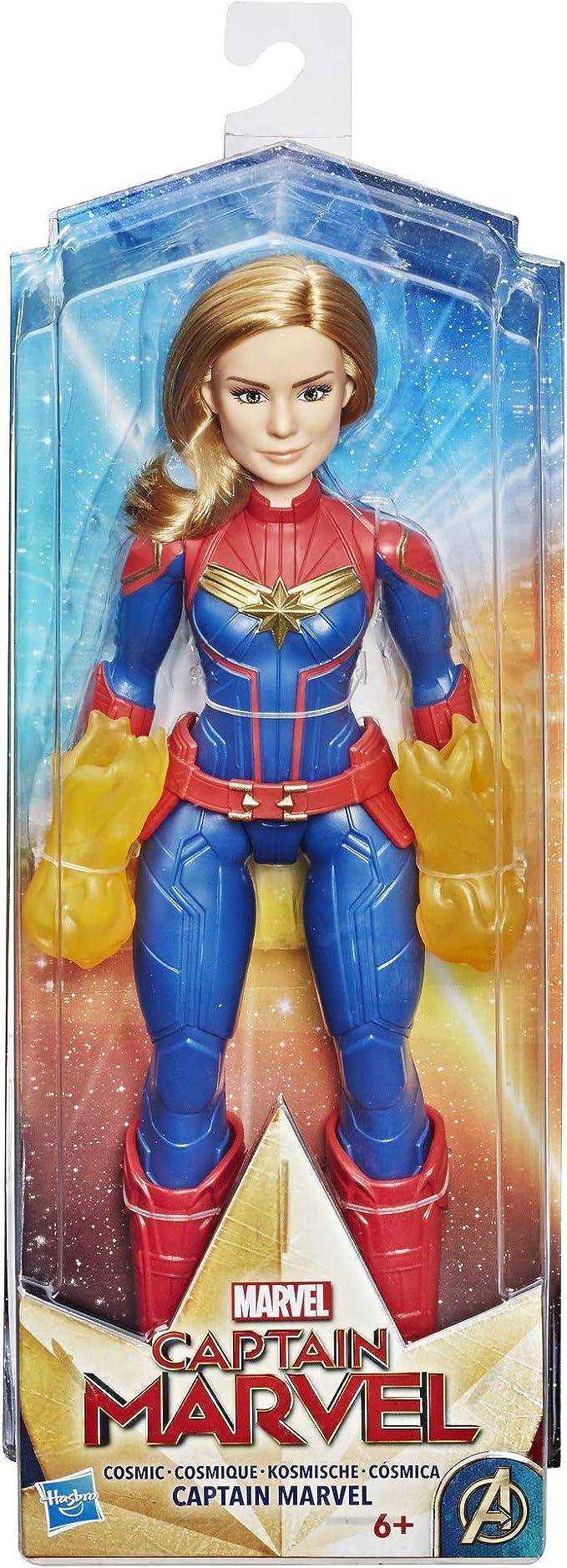 Captain Marvel - Capitan Marvel Cósmica (Hasbro E4565EU4): Amazon ...