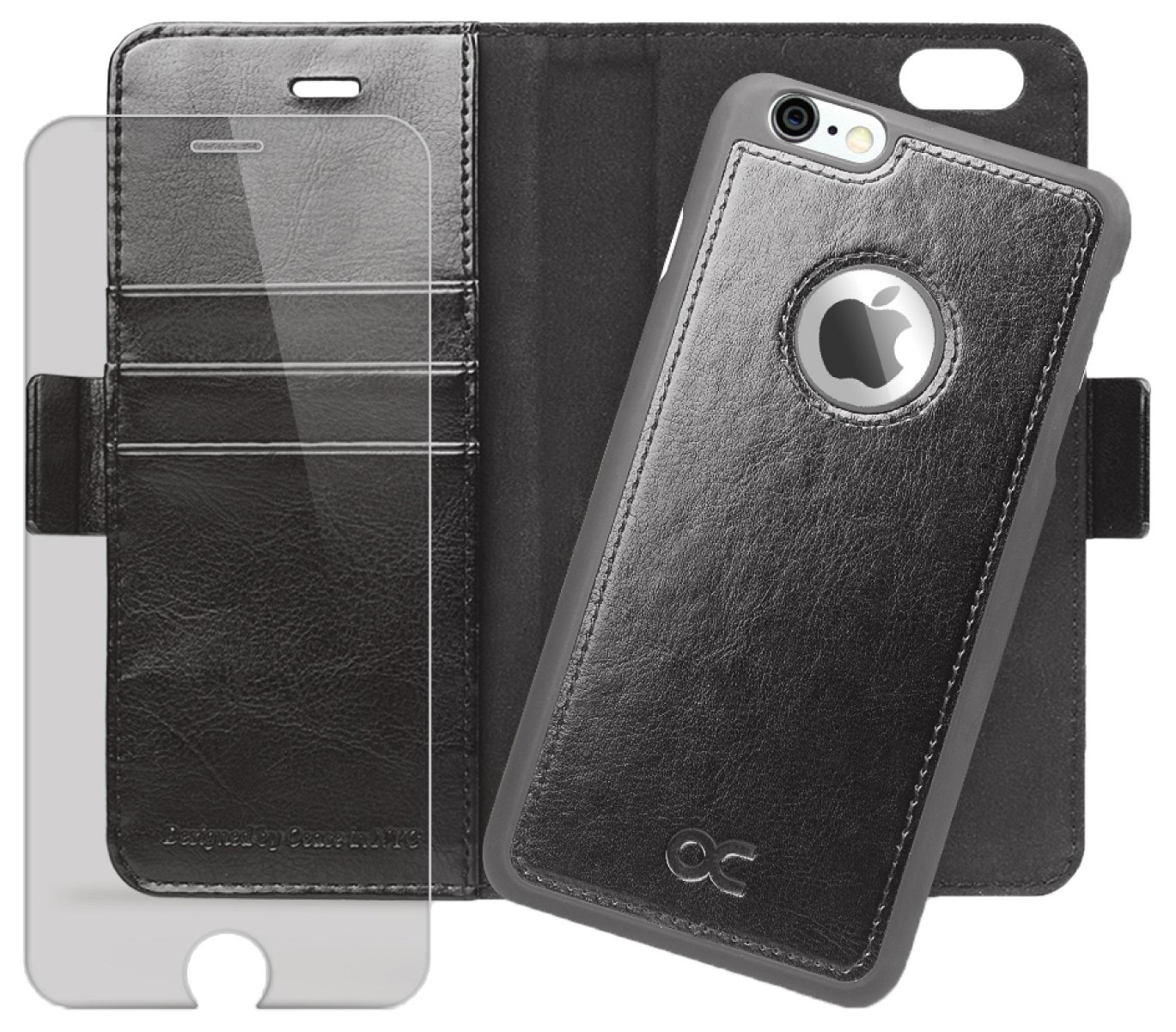 OCASE iPhone 6 Case iPhone 6S Case [Magnetic Detachable Case] Wallet Leather Case [Screen Protector Included] For Apple