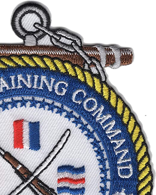 Veteran Owned Business Sculpted Cutout Color RECRUIT TRAINING COMMAND GREAT LAKES PATCH