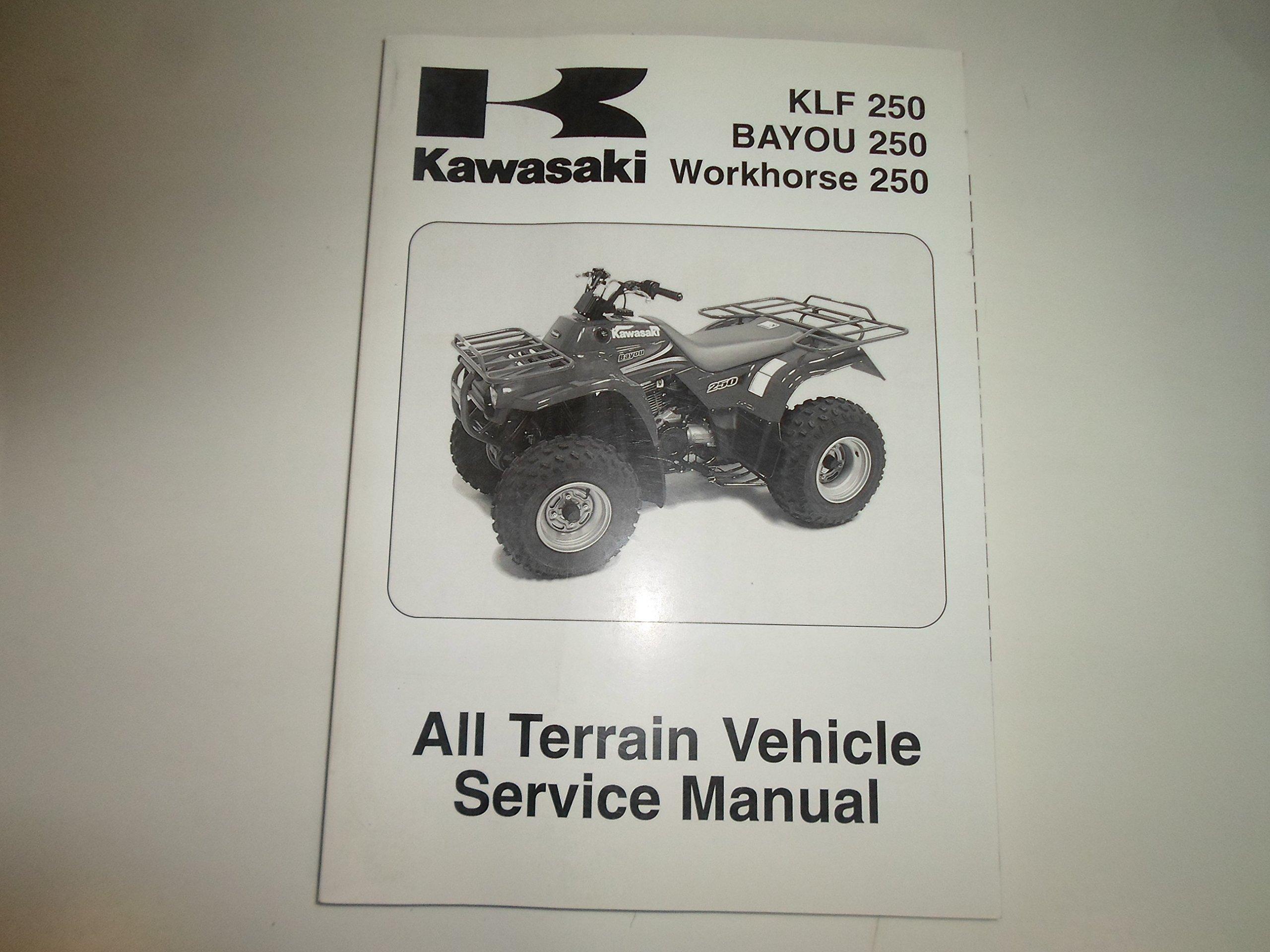... manual Array - 2003 2008 kawasaki klf 250 bayou 250 workhorse 250 atv  service rh amazon com