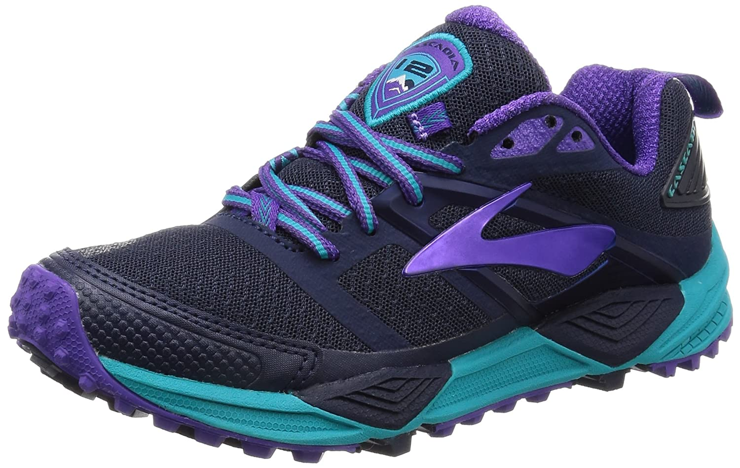 Brooks Womens Cascadia 12 B01GF86NMO 6.5 B(M) US|Peacoat/Passion Flower/Bluebird