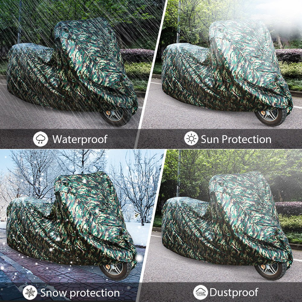 LotFancy Motorcycle Bike Polye All Weather Waterproof Motorcycle Bike Polyester Cover