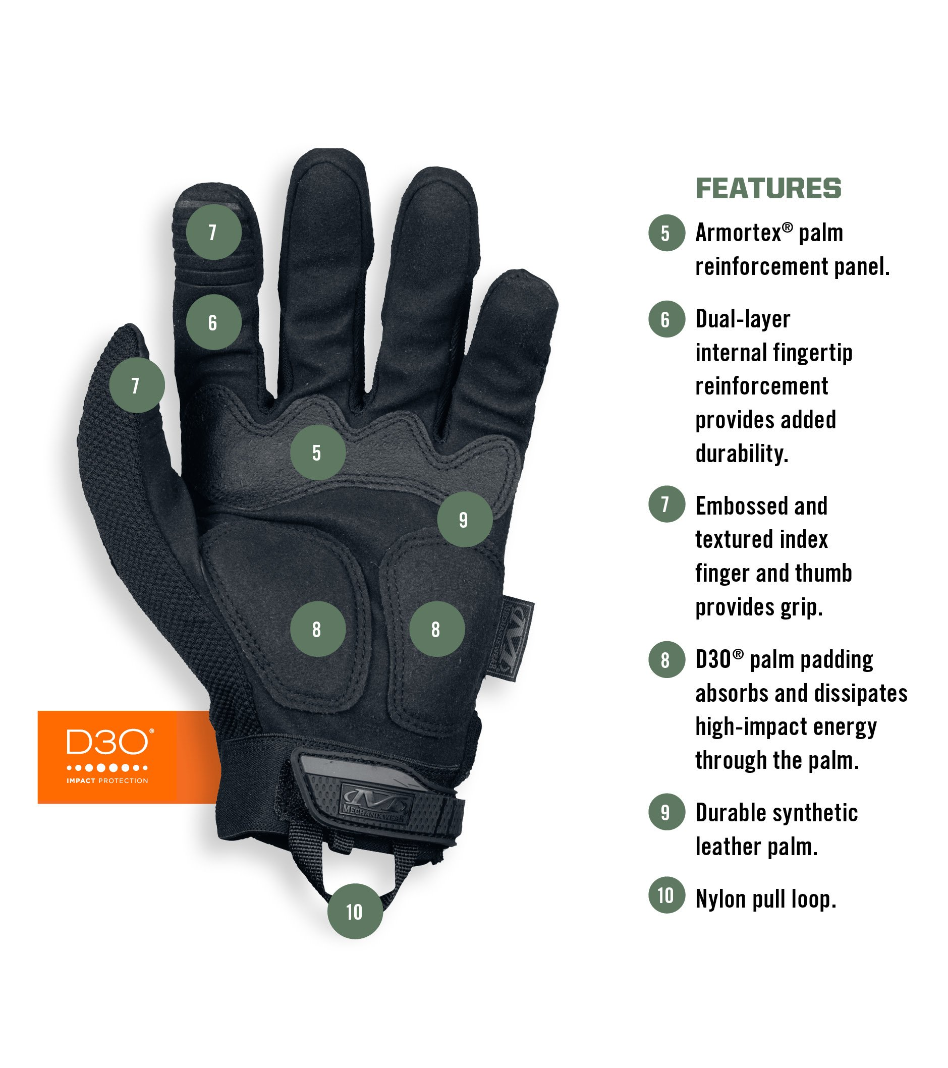 Mechanix Wear - M-Pact Covert Tactical Gloves (Large, Black) by Mechanix Wear (Image #3)