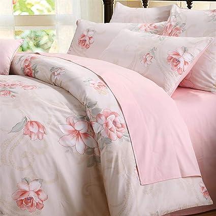 Amazon Com Brandream Pink Girls Floral Bedding Sets 100 Egyptian