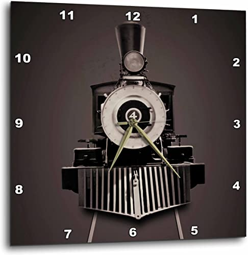 3dRose DPP_54399_3 Locomotive Train Coming from The Front Wall Clock, 15 by 15-Inch