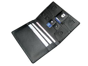 65d9deb3fe55ca Unbekannt Azzure universelle SD Micro SD Speicherkarte SIM Kreditkarte  Leder Geldbörse Inhaber Zubehörkoffer