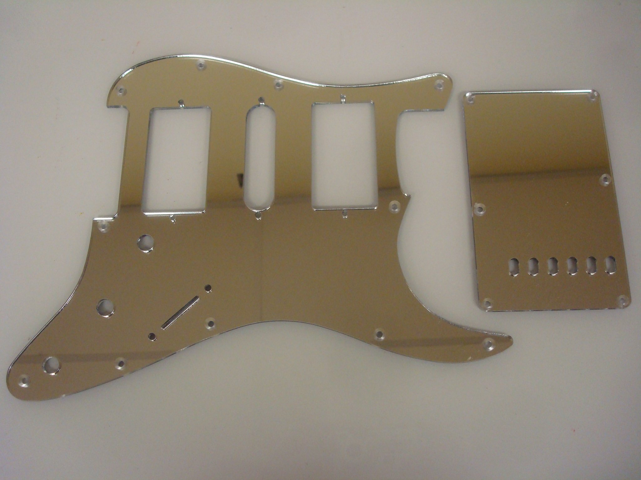 HSH Mirror Acrylic (Chrome Colored) Pickguard Set Fits Fender Stratocaster