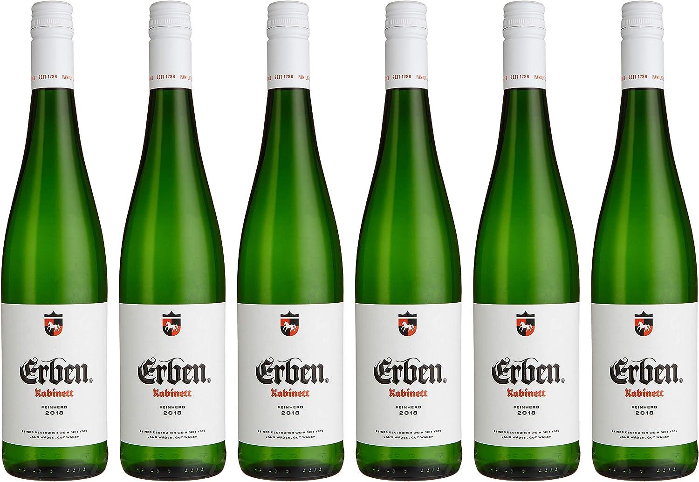 Erben Kabinett Feinherb – Weißwein aus Deutschland – Prädikatswein – 12 x  12,12 l