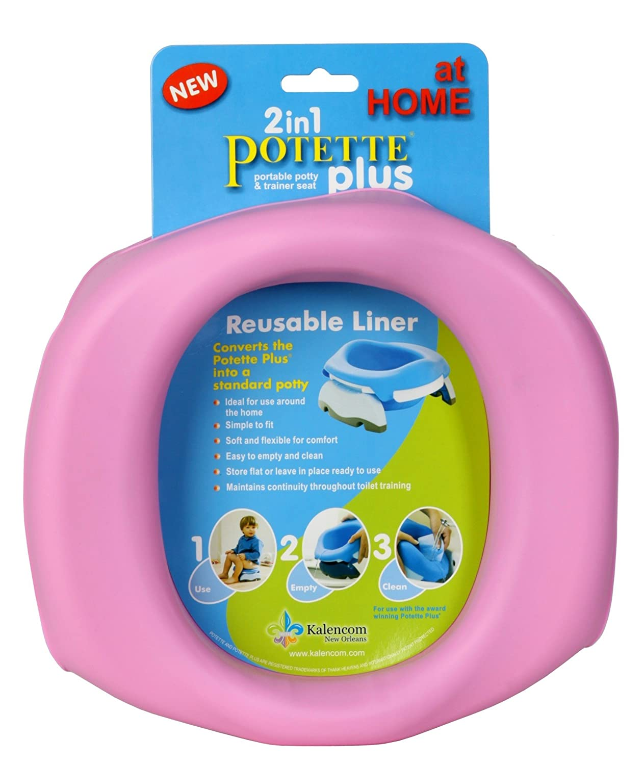 Kalencom Potette Plus At Home Reusable Liners, Pink (Discontinued by Manufacturer) 2734Pink