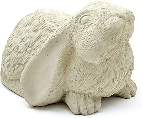 Curious Bunny Statue: Solid Cast Stone