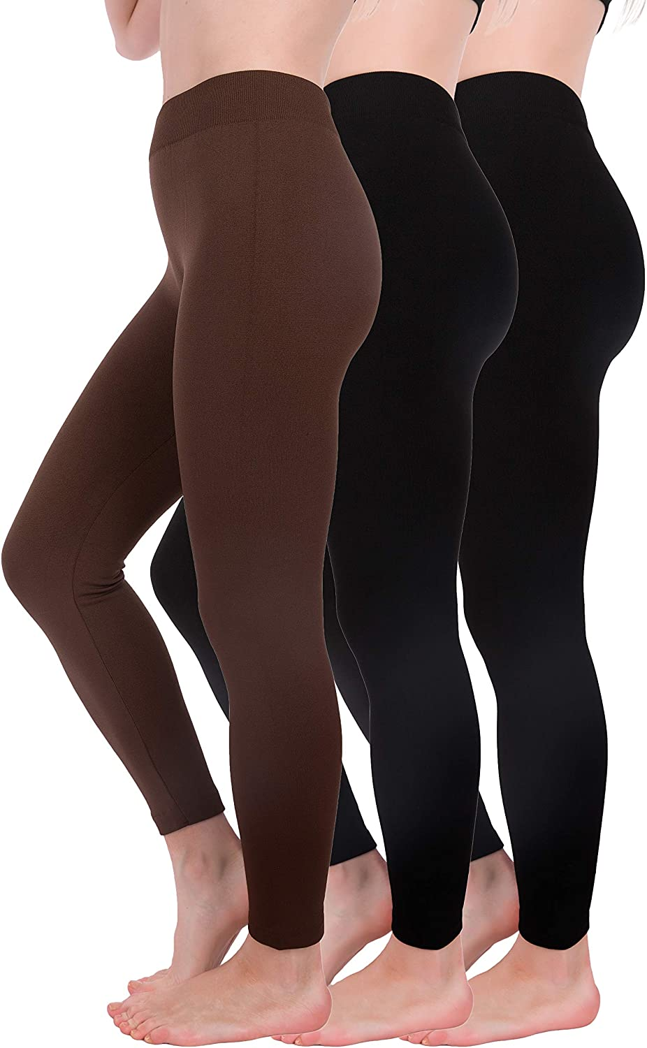Homma 3 Pack Warm Fleece Lined Thick Brushed Leggings Thights