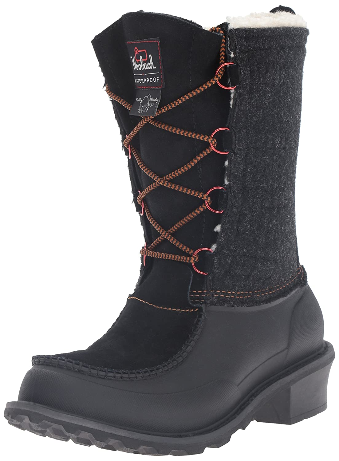 Woolrich Women's Fully Wooly Lace Winter Boot B01A7TVX7C 8.5 M US|Black