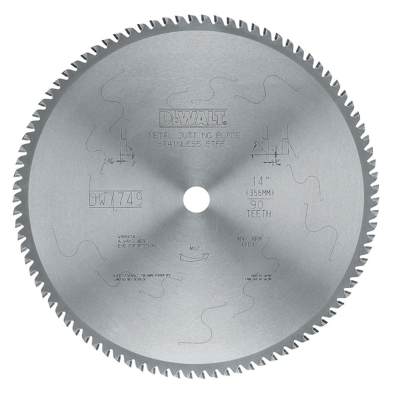 DEWALT DWA7749 90 Teeth Stainless Steel Metal Cutting 1-Inch Arbor, 14-Inch