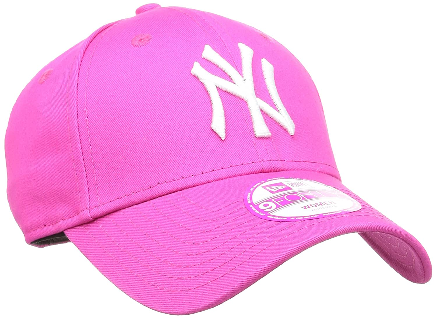788f5dc2e7c77 New Era 9Forty Womens Fashion ESS NY Yankees Baseball Cap - Pink White