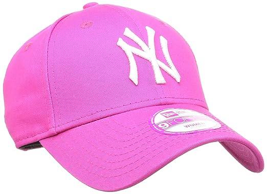 f5f17290a07 New Era 9Forty Womens Fashion ESS NY Yankees Baseball Cap - Pink White   Amazon.co.uk  Sports   Outdoors