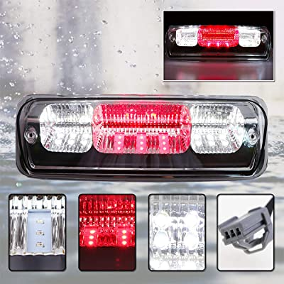 For 2004-08 Ford F150, 2007-10 Ford Explorer Sport Trac, 2006-08 Lincoln Mark LT High Mount LED 3rd Tail Brake Cargo Light (Chrome Housing Clear Lens): Automotive