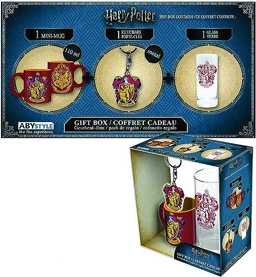Set Regalo Gryffindor. Harry Potter. Vaso, Taza y Llavero: Amazon ...