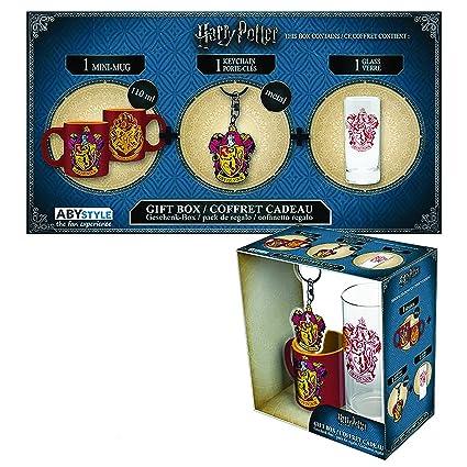 Set Regalo Gryffindor. Harry Potter. Vaso, Taza y Llavero