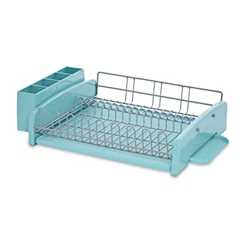 Awesome KitchenAid 3 Piece Dish Rack, Aqua Sky