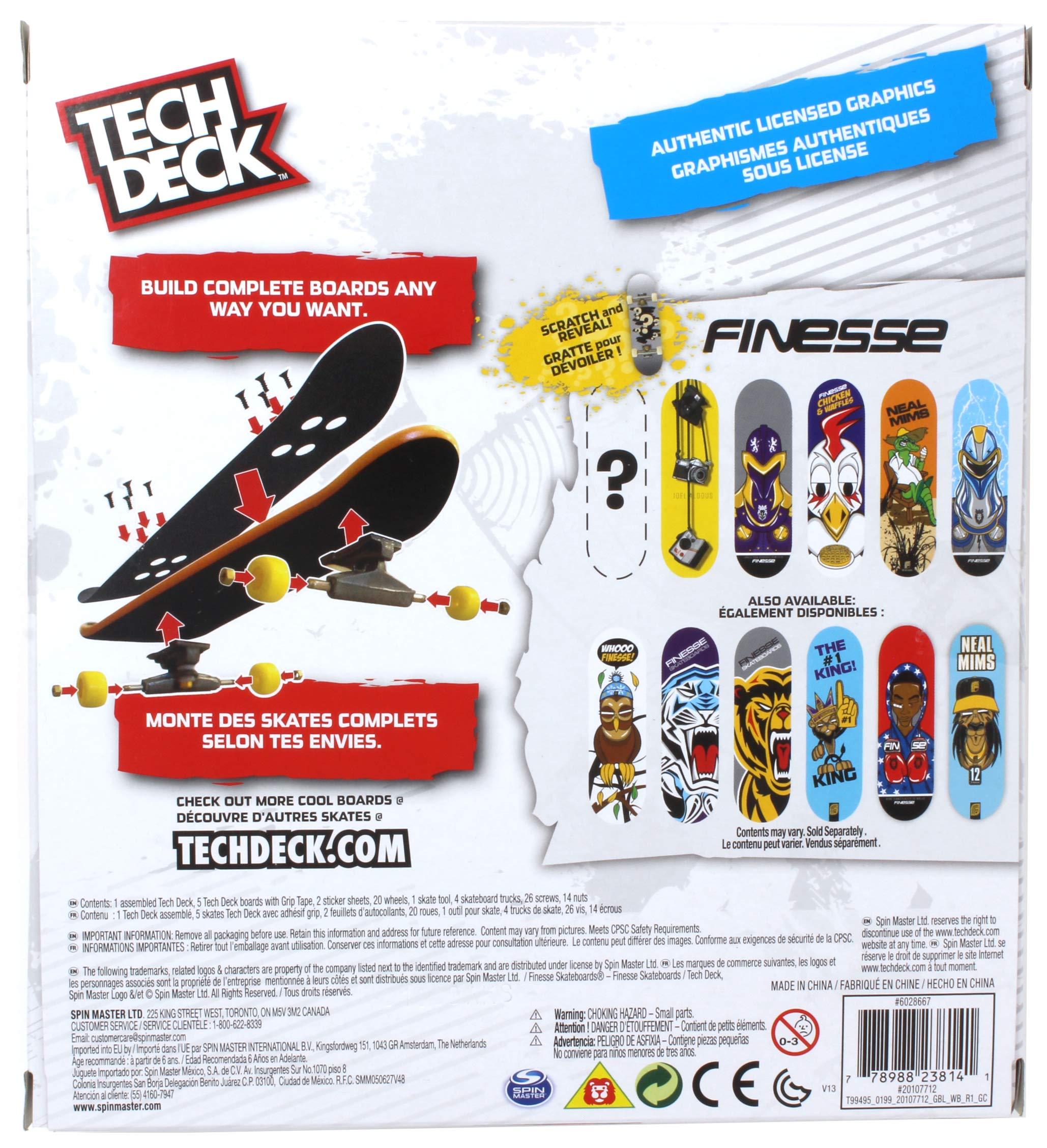 Tech Deck Finesse Skateboards Sk8shop Bonus Pack with 6 Fingerboards by Tech Deck Finesse (Image #2)