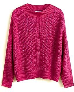 9253a18355d MANGO Women's Open-Knit Sweater 43020625 Pink: Amazon.co.uk: Clothing