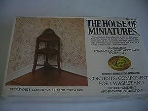 Dollhouse Furniture- Hepplewhite Corner Washstand/ Circa 1800 #40056 Assembled (The House of Miniatures)