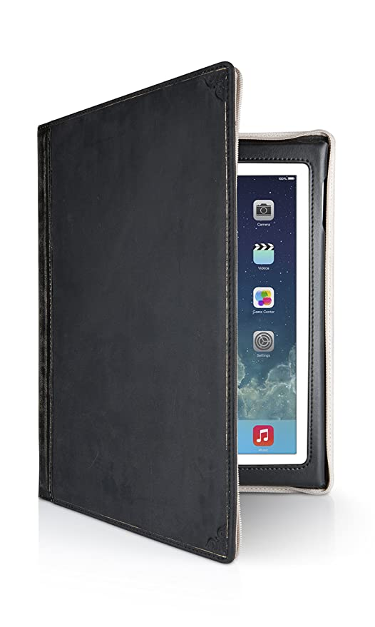 low priced bb765 e6320 Twelve South 12-1209 BookBook for iPad, Black | Vintage Leather Book case  for iPad (2nd, 3rd, and 4th gen.)