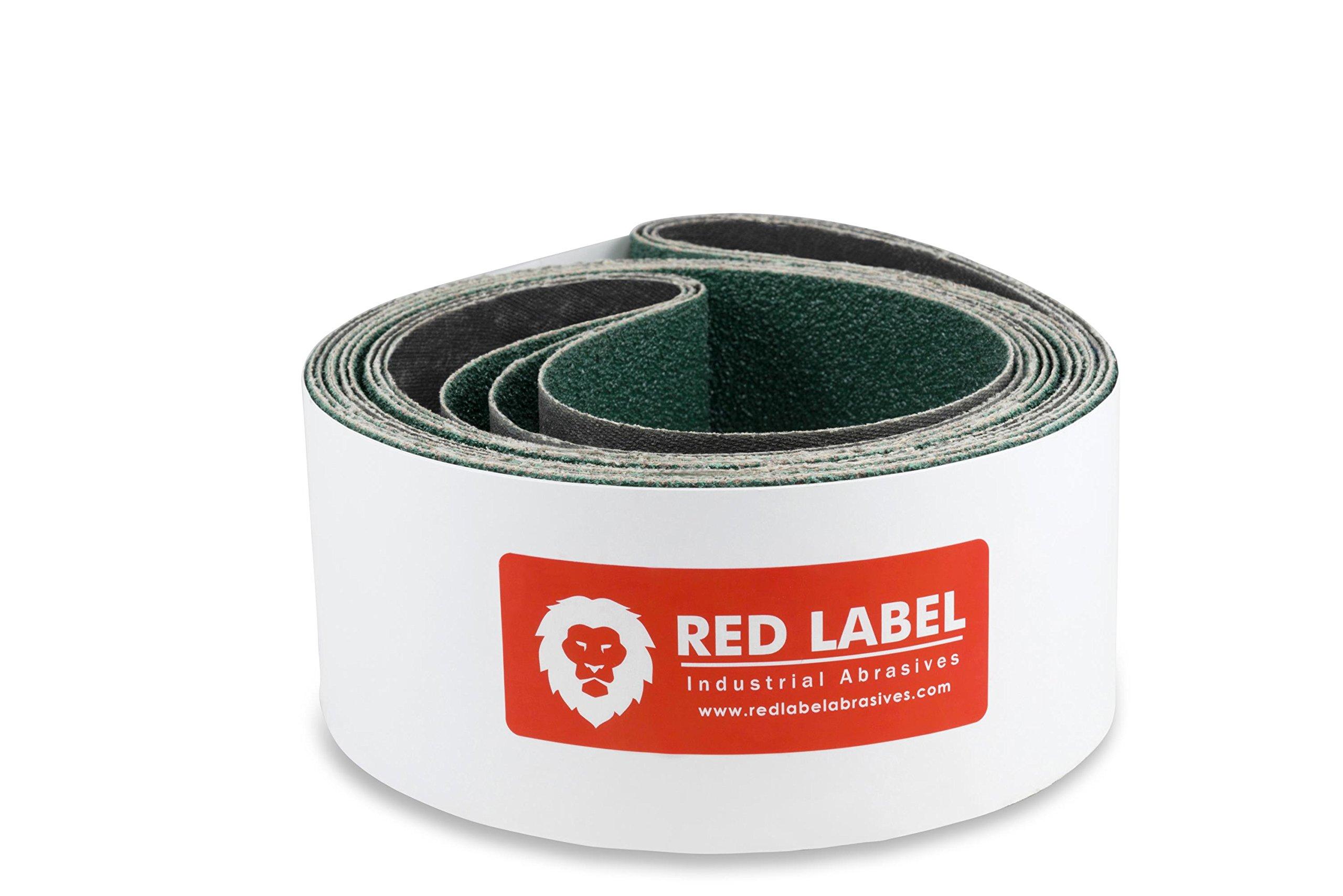 6 X 80 Inch 40 Grit Metal Grinding Zirconia Sanding Belts, 2 Pack