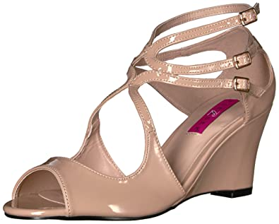 ff9b52c1ffbe Pleaser Pink Label Women s Kim04 Cr Wedge Sandal