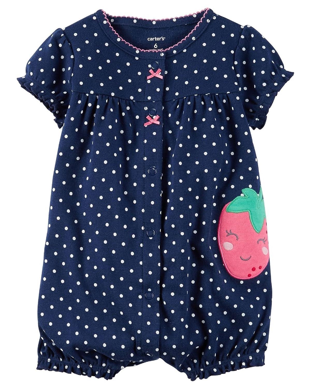 1ee3e50850e9 Amazon.com  Carter s Baby Girls  Corgi Pocket Snap Up Romper  Clothing