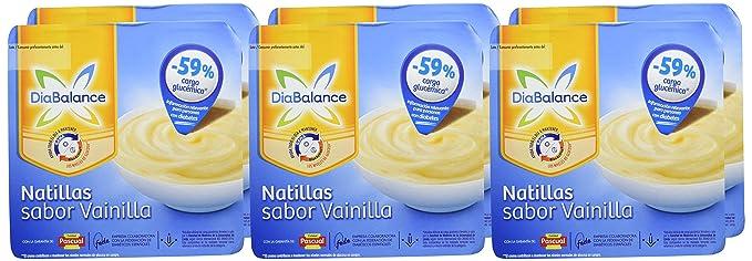 DiaBalance Natillas Vainilla - 6 Paquetes de 4 x 100 gr - Total: 2.4 kg: Amazon.es: Alimentación y bebidas