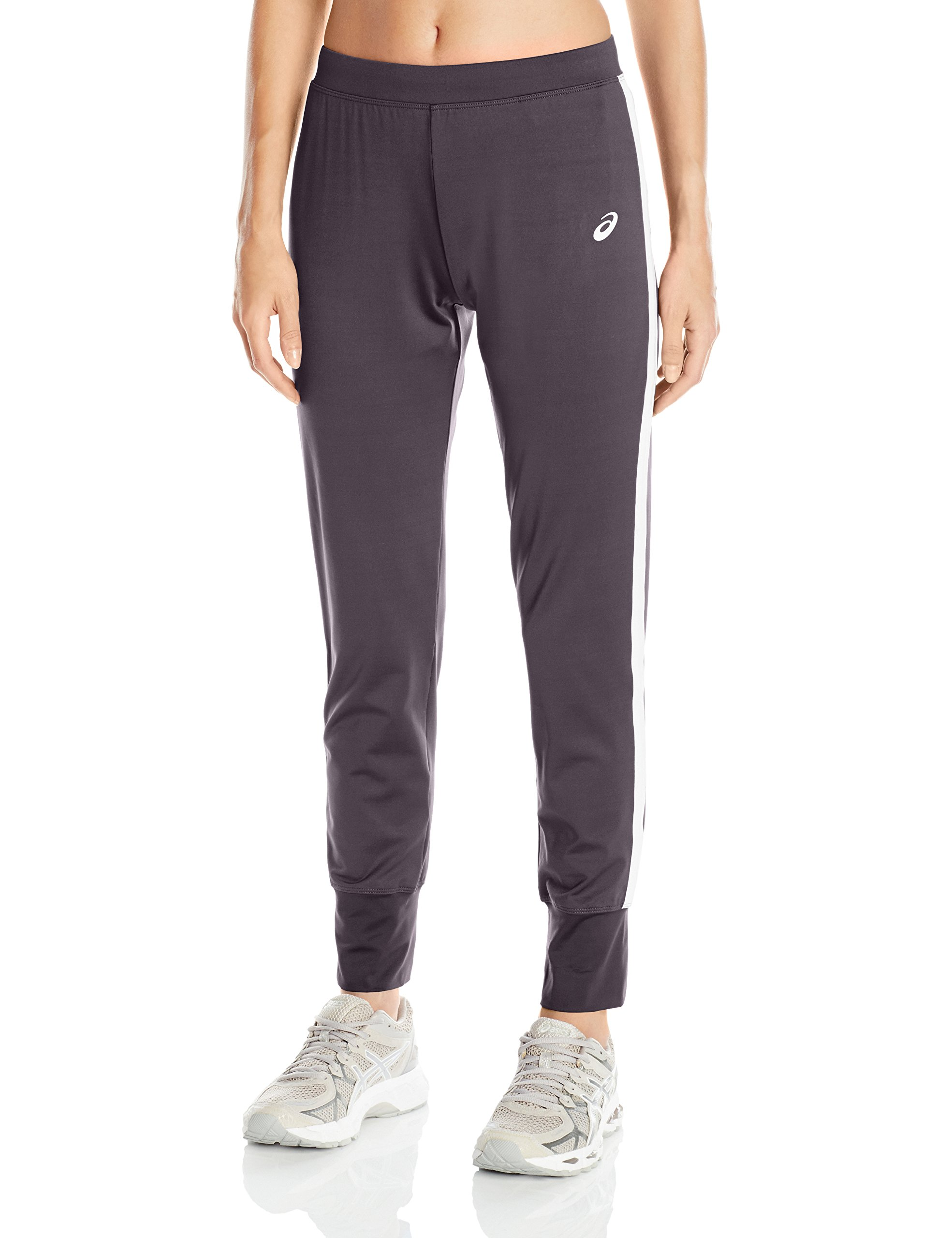 ASICS Women's Lani Performance Pant, Steel Grey/White, X-Small