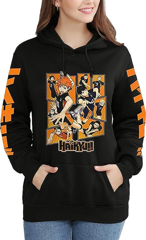 Dolpind Anime Haikyuu Manga OYA OYA OYA Printed Hoodie Sweater Hooded Pullover