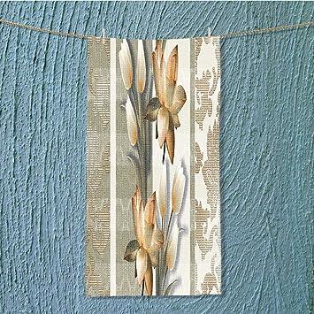 AmaPark - Toalla de Fondo Floral Ligera con Textura sin Costuras para casa, Hotel y SPA, 7,9 x 23,6 Pulgadas: Amazon.es: Hogar