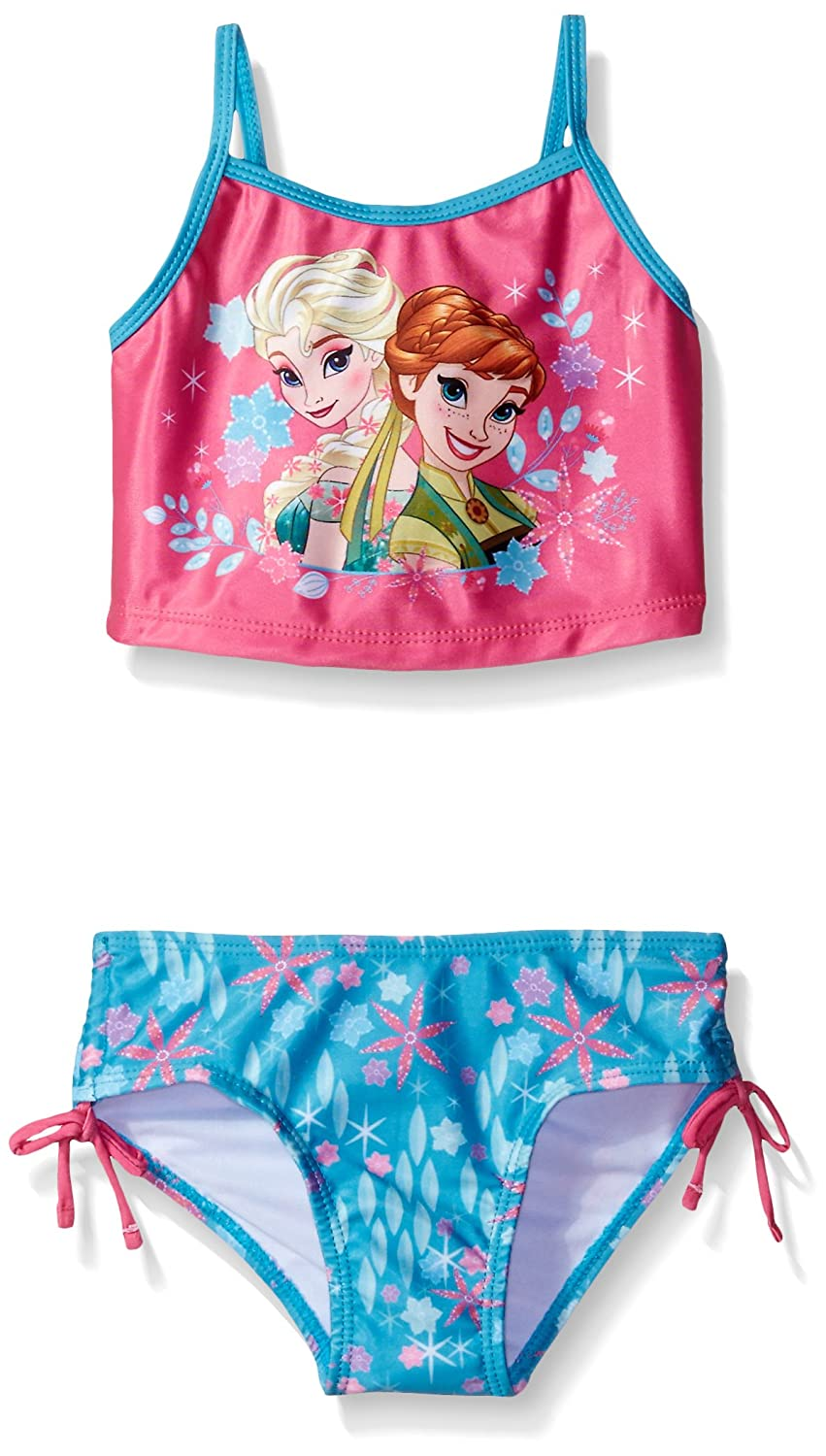 Disney Girls' Frozen Fever Swimsuit Pink/Blue 2T 7621128FF