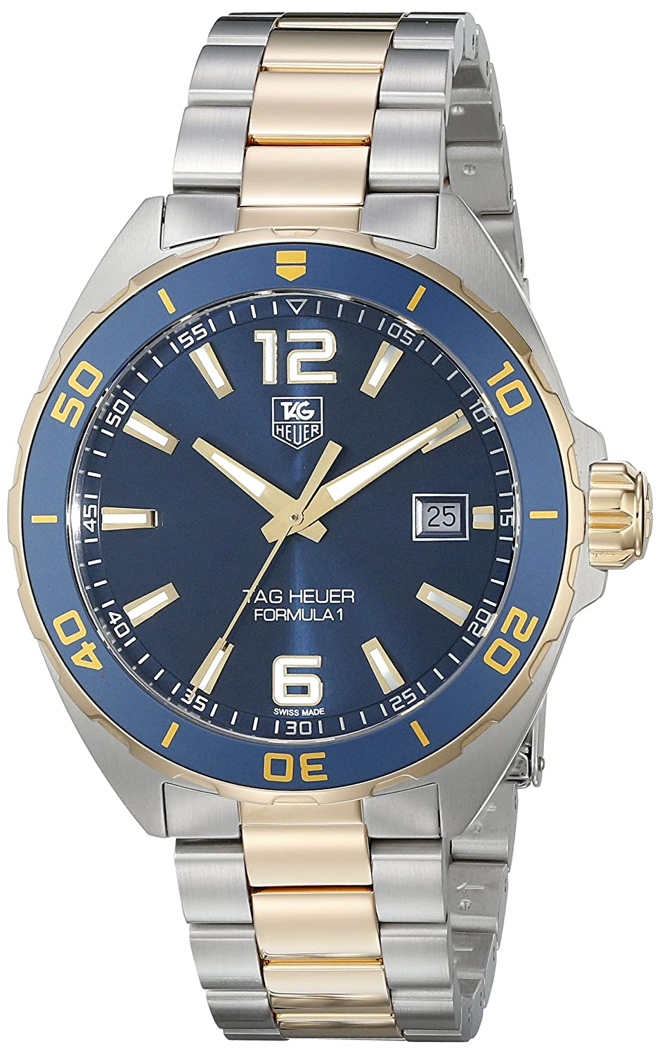 154ab1431a94 Amazon.com  TAG Heuer Men s WAZ1120.BB0879 Formula 1 Analog Display Swiss  QuartzTwo Tone Watch  TAG Heuer  Watches