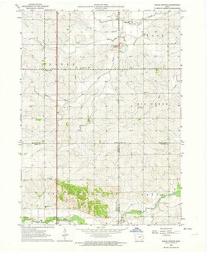 Amazon Com Iowa Maps 1963 Eagle Center Ia Usgs Historical