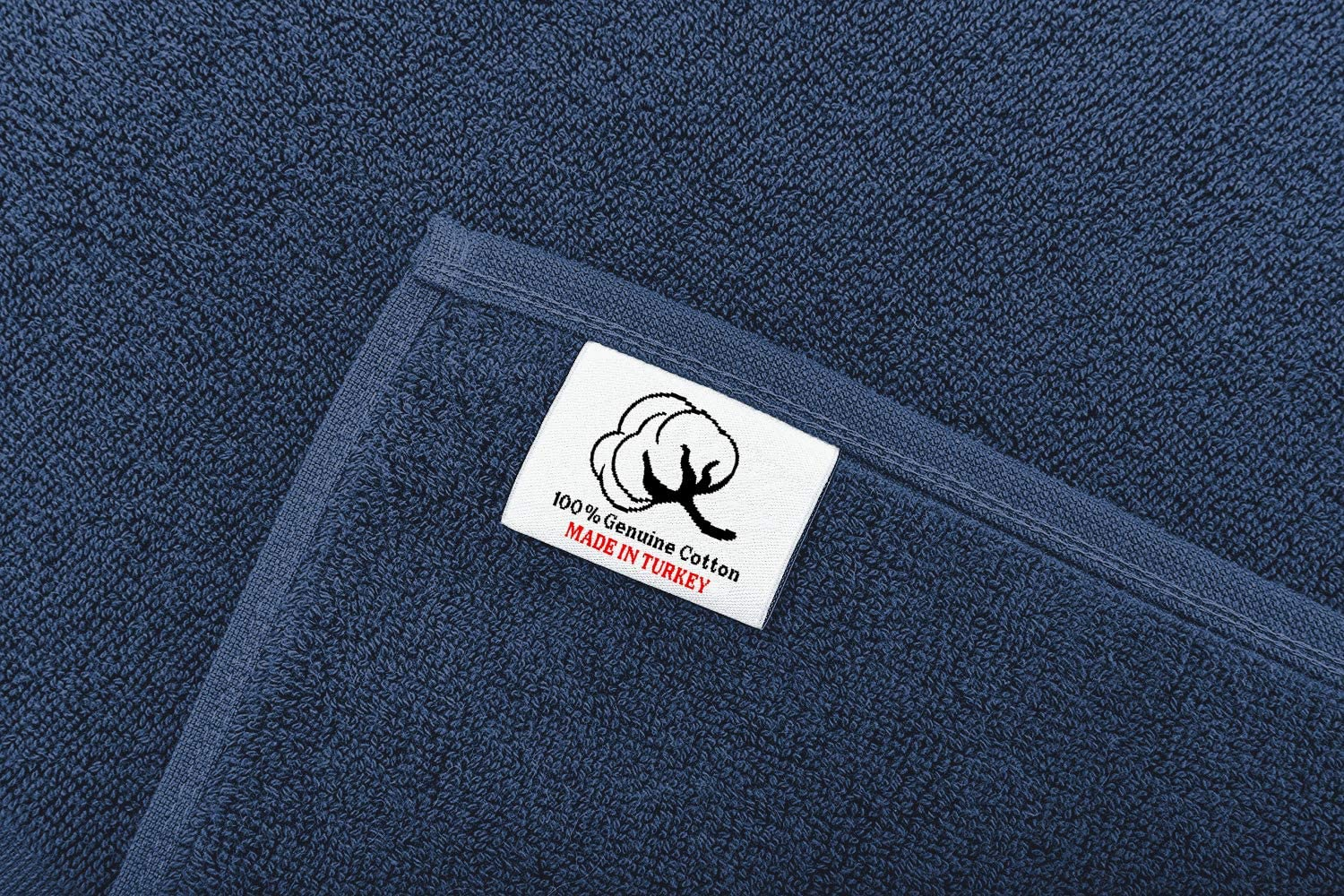 900 GSM Machine Washable 20x34 Inches 2-Pack Banded Bath Mats Navy Blue 100/% Ring Spun Genuine Cotton Maximum Softness and Absorbency by United Home Textile Luxury Hotel and Spa Quality