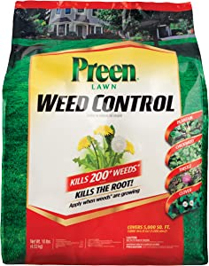 Preen 2464089 Lawn Weed Control - 10 lb. - Covers 5,000 sq. ft.