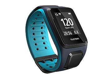 TomTom Runner 2 Cardio + Music + Casque BT - Montre GPS - Bracelet Large Bleu Marine / Turquoise (ref 1RFM.001.05): Amazon.fr: GPS & Auto