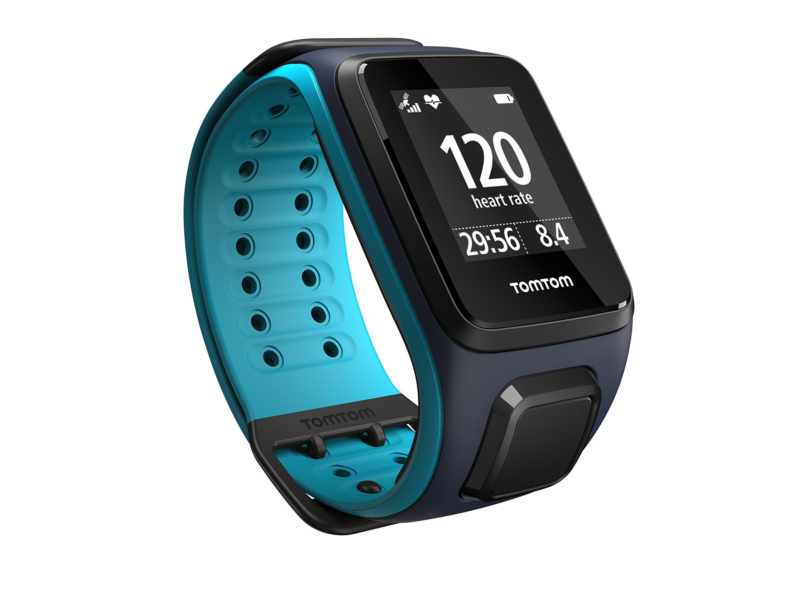 TomTom Runner 2 Cardio Orologio GPS, Cardiofrequenzimetro Integrato, Cinturino Grande, Blu/Azzurro product image