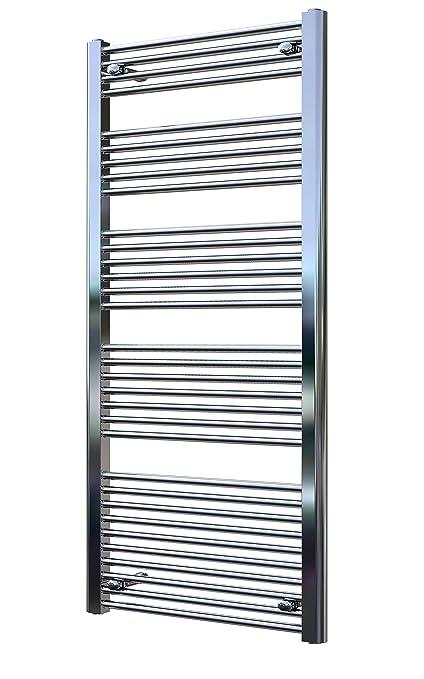Radiador de baño LIDYA cromo 1500 x 300 mm. recto toallero calentador de toallas
