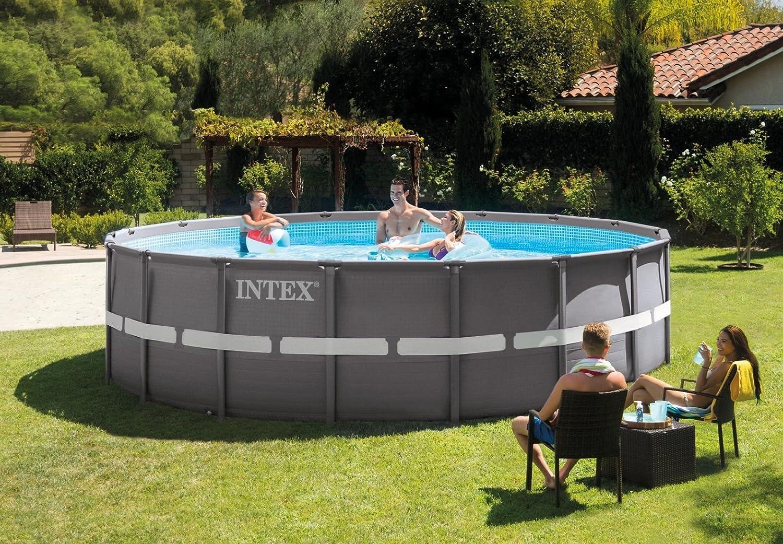 Intex Ultra Rondo Frame Pool Set, 19156 Liters, Grau, Durchmesser ...