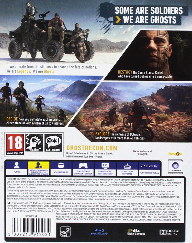 Amazon.com: Tom Clancys Ghost Recon: Wildlands (PS4): Video ...