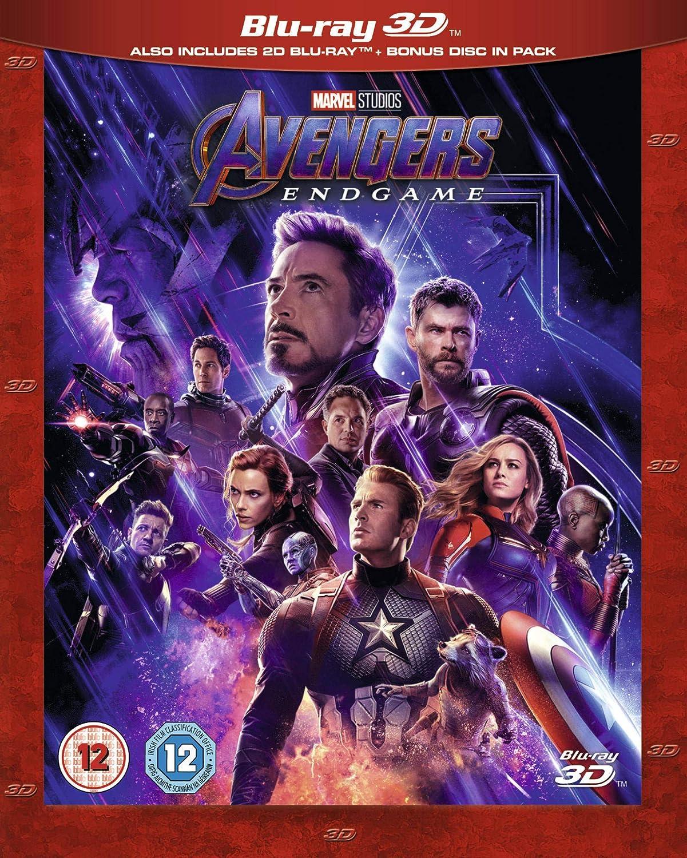 Avengers Endgame 3d Includes Bonus Disk Blu Ray 2019 Region Free