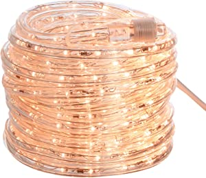 AmazonBasics 420 LED Indoor Outdoor Warm White Rope Light, 40-Foot