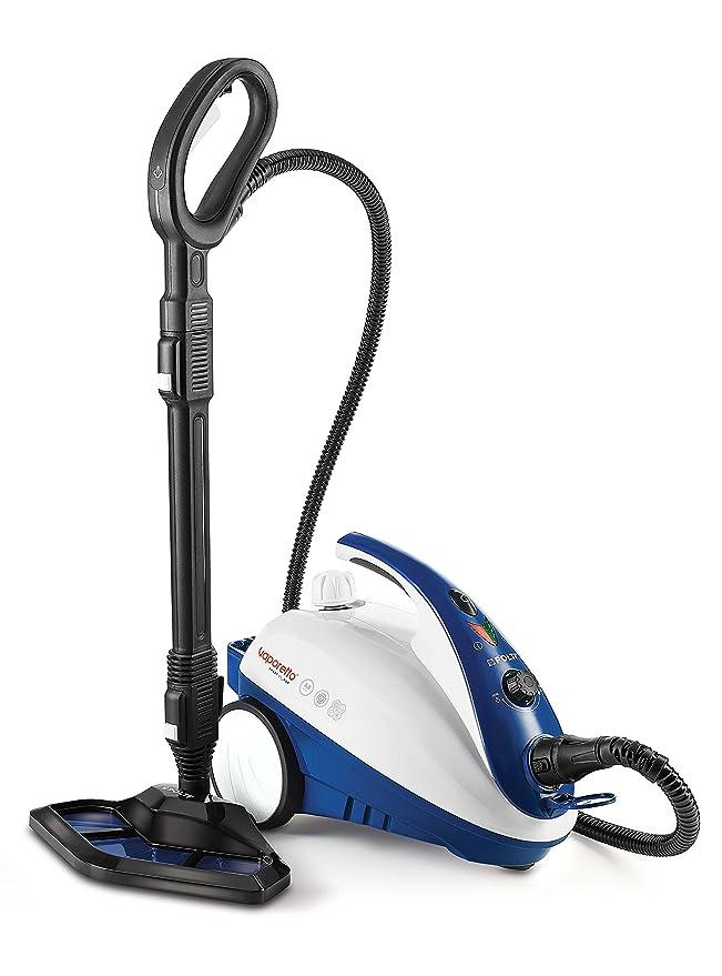 Polti Vaporetto Smart 40 Mop-Generador de Vapor con Cepillo mopa Integrado, 1800 W, 1.6 litros, 1.6, plástico, Acero Inoxidable, Blanco/Azul: Amazon.es: ...