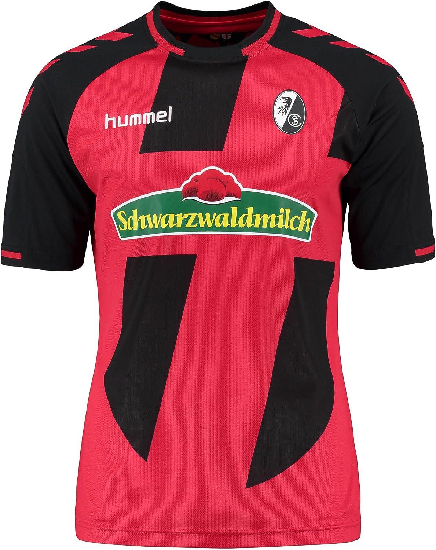 Hummel – Camiseta de fútbol para Hombre, Color Rojo y Negro ...